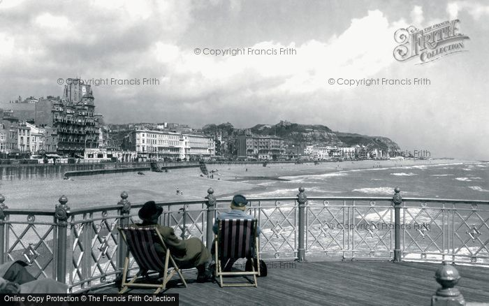 Hastings, View From The Pier c.1955