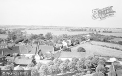 View From Church Tower c.1960, Hatfield Broad Oak