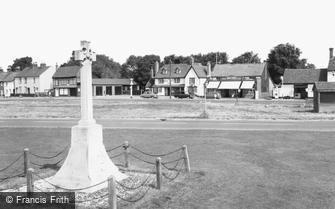 Hatfield Heath, the Memorial and White Horse Inn c1965