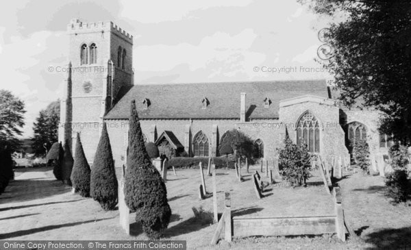 Photo of Hatfield, St Etheldreda's Church c1960, ref. H254057