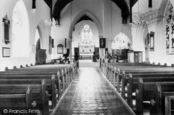 Hatfield, The Parish Church Interior c.1965