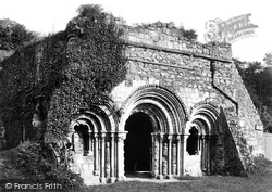 Haughmond Abbey, The Chapter House 1891