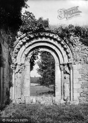 Haughmond Abbey, The Chapter House Portal 1924