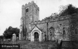 Hauxwell, St Oswald's Church And Ancient Cross 1913