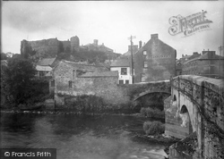 Haverfordwest, Castle And Old Bridge 1948