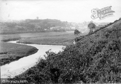 Haverfordwest, From The River Cleddau 1890