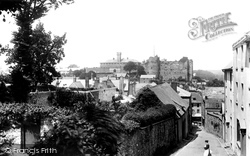 Haverfordwest, Hill Lane And Castle 1906