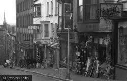 Haverfordwest, Shops On Market Street 1950