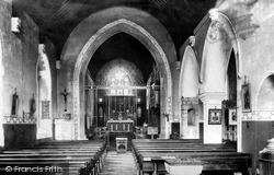 Haverfordwest, St Martin's Church Interior 1898