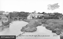 Haverfordwest, The River And Old Bridge c.1950