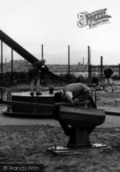 Haverigg, Children Playing In The Playground c.1955