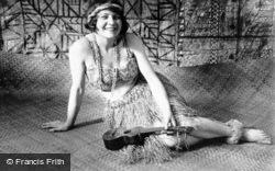 Honolulu, Hula Girl With Uklele c.1935, Hawaii
