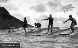 Honolulu, Surfing At Waikiki c.1935, Hawaii