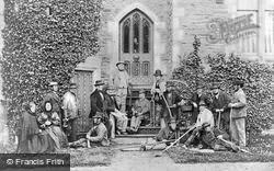 Castle, The Servants c.1880, Hawarden