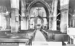 Hawarden, Parish Church, Interior c.1935