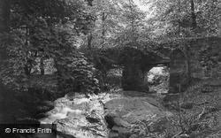 Hawarden, The Ladies Waterfall And Bridge c.1900