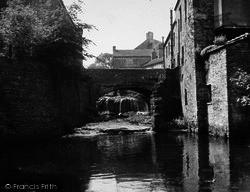 Hawes, The Bridge And Waterfall c.1955