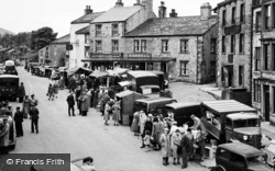 Hawes, The Market c.1950