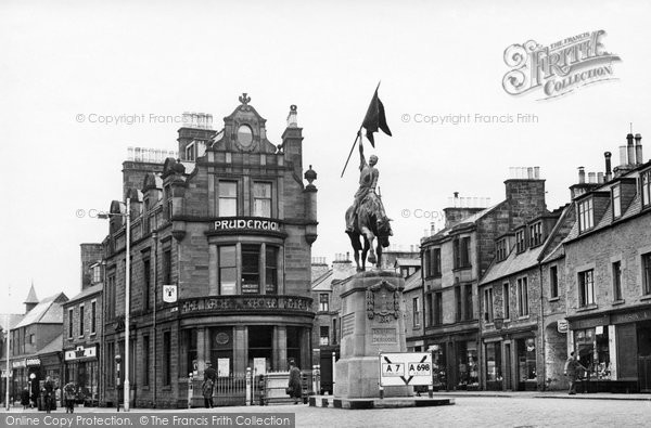 Photo of Hawick, 1514 Memorial c1955, ref. H248002