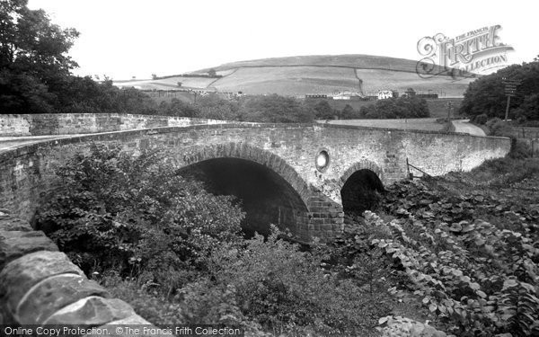 Photo of Hawick, Crowbyers Bridge and Greenbrae Head c1955, ref. H248014