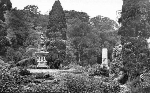 Photo of Hawick, Fountain And War Memorial, Wilton Lodge Park c.1955