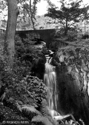 Hawick, Wilton Lodge Park, Waterfall c.1955
