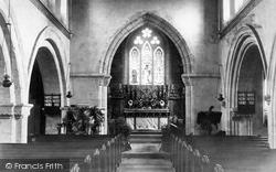 Hawkchurch, Church Interior 1892