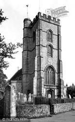 Hawkchurch, St John The Baptist Church Tower c.1955