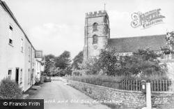 Hawkchurch, St John The Baptist's Church And Old Inn c.1955