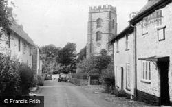 Hawkchurch, Village Street And Church c.1955