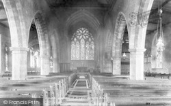 St Laurence Church Interior 1902, Hawkhurst