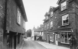 Hawkshead, Main Street And Post Office 1912