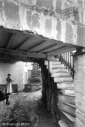 Hawkshead, Old Pillared House 1912