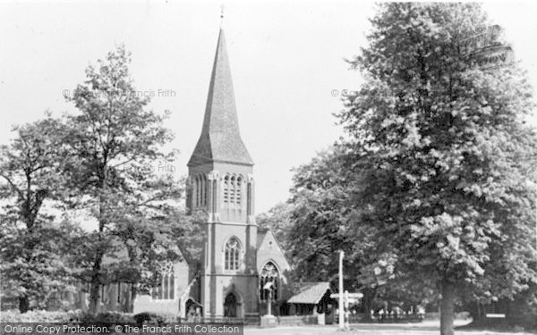 Photo of Hawley, Holy Trinity Parish Church c.1955