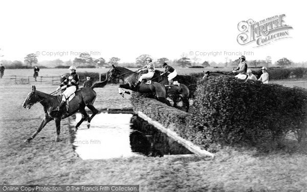 Hawthorn Hill, Horse Racing, The Water Jump c.1888