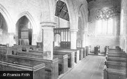 Hawton, St Leonard's Church, Interior 1890