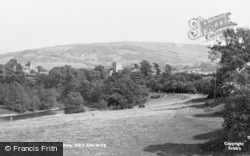 Hay-on-Wye, River From Meadows c.1950