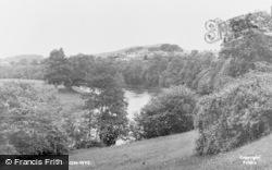 Hay-on-Wye, River Wye c.1955