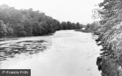 Hay-on-Wye, River Wye From The Bridge c.1955
