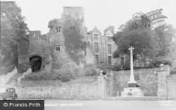 Hay-on-Wye, The Castle And Memorial c.1955