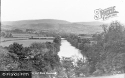 Hay-on-Wye, The River Wye And Black Mountains c.1950