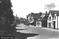 Hay-on-Wye, Town Clock And Broad Street c.1950