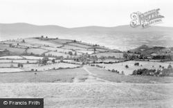 Hay-on-Wye, View From Hills c.1955