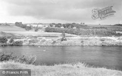 River Tyne And North Bank c.1955, Haydon Bridge