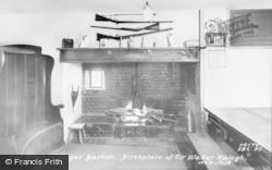 Hayes Barton, Birthplace Of Sir Walter Raleigh, The Kitchen c.1960