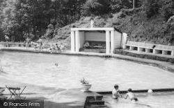Bathers At Park Hall Pool c.1960, Hayfield