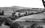 Hayfield, Kinder Scout from Kinder Road c1960