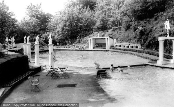 Hayfield, Park Hall Pool c1960