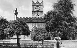 War Memorial And St Matthew's Church c.1950 , Hayfield