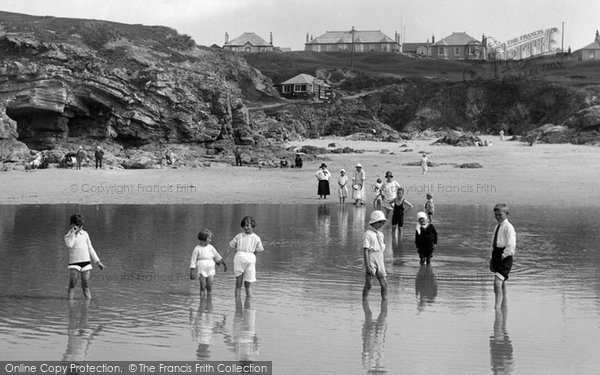Hayle, Children in the Paddling Pool 1925